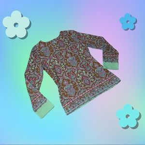Psychedelic 60's top